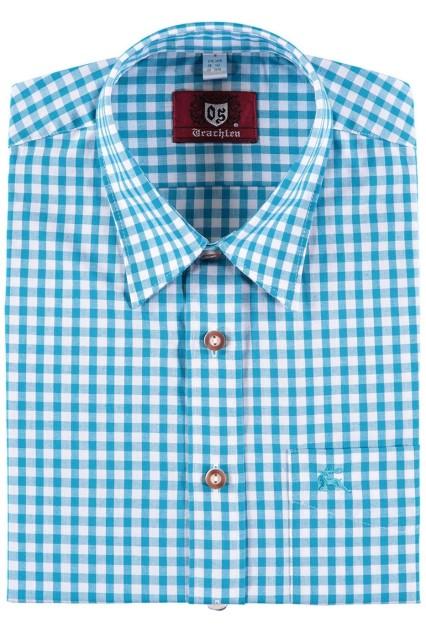 Orbis Trachtenhemd  für Lederhosen Langarm Trachtenmode mit Hirsch Stickerei