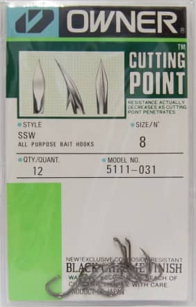 5111 Cutting Point Owner Einfachhaken Angelhaken