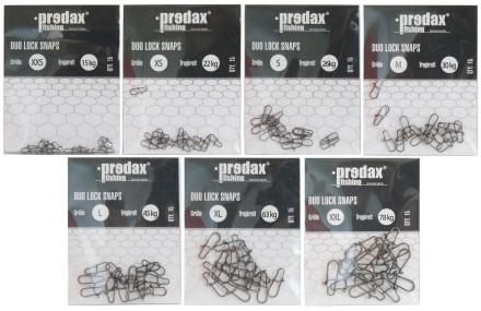 Predax Duo Lock Snaps Karabiner Einhänger 15 Stück