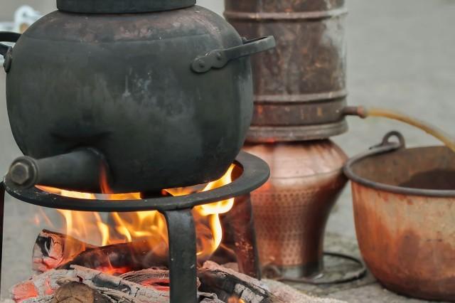 Ständer aus Schmiedeeisen ❀ 30cm ❀ Kochen auf offenem Feuer ❀ /& zum Präsentieren