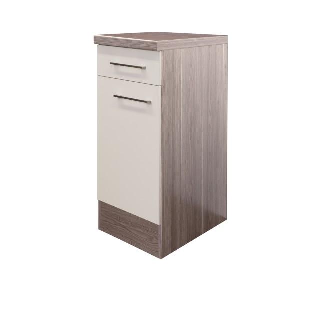 Küchen-Unterschrank EICO - 1-türig - 30 cm breit - Creme Samtmatt