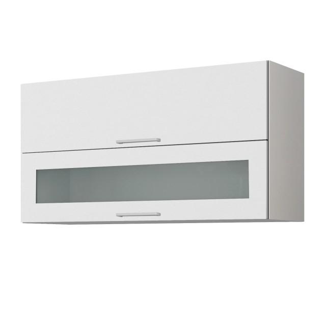 Küchen-Hängeschrank MÜNCHEN - mit Glasklappe - 100 cm breit ...