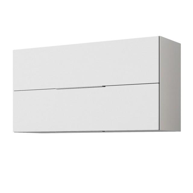 Küchen Hängeschrank Hamburg 2 Klappen 100 Cm Breit Hochglanz Weiß Weiß