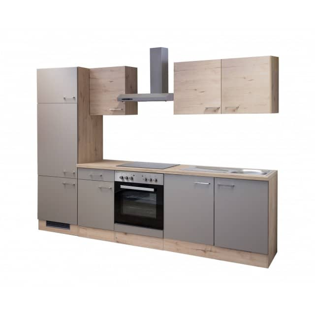 Küchenzeile RIVA - Küche mit E-Geräten - 12-teilig - Breite 270 cm ...