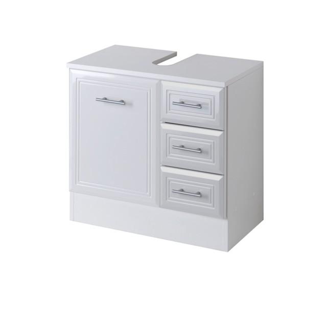 Bad Waschbeckenunterschrank Neapel 1 Turig 3 Schubladen 60 Cm