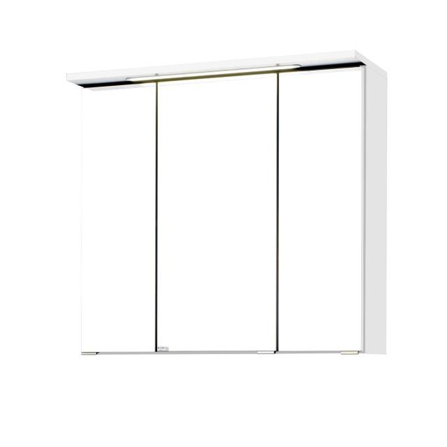 bad spiegelschrank bologna 3 t rig mit led lichtleiste 70 cm breit wei m bel g. Black Bedroom Furniture Sets. Home Design Ideas