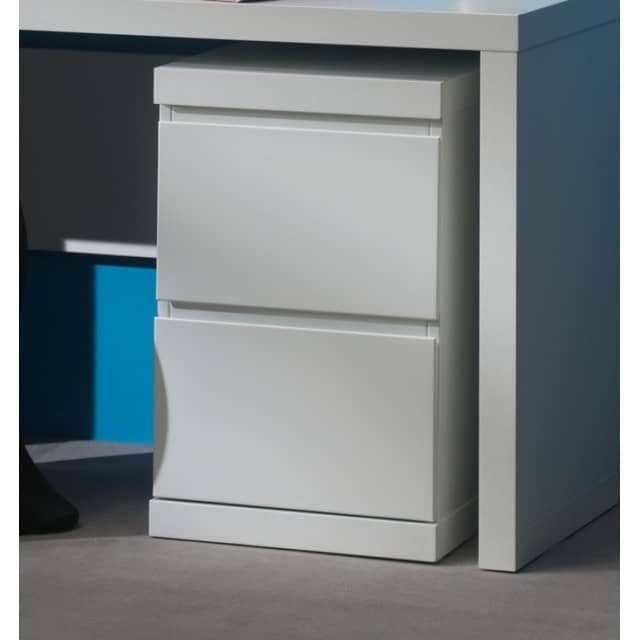 Schreibtisch Container LARA - 2 Schubladen - Weiß