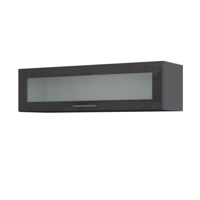 Küchen-Hängeschrank MÜNCHEN - 1 Glasklappe - 110 cm breit ...