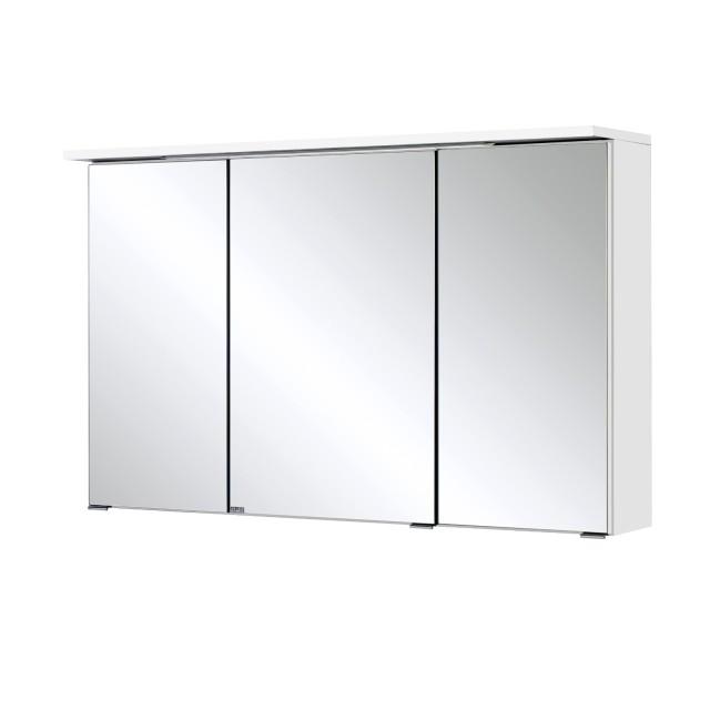Bad-Spiegelschrank BOLOGNA - 3-türig, mit LED-Lichtleiste - 100 cm breit -  Weiß