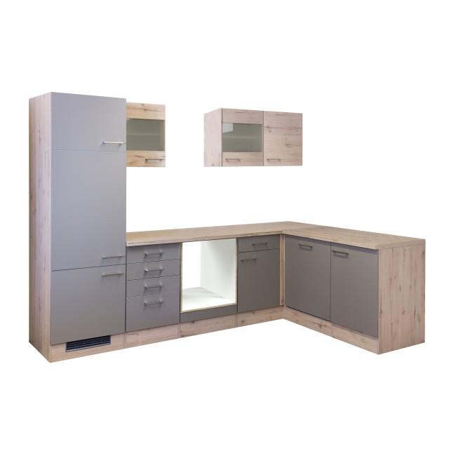 Eckküche RIVA - L-Küche ohne E-Geräte - Breite 280 x 170 cm - Bronze  Metallic