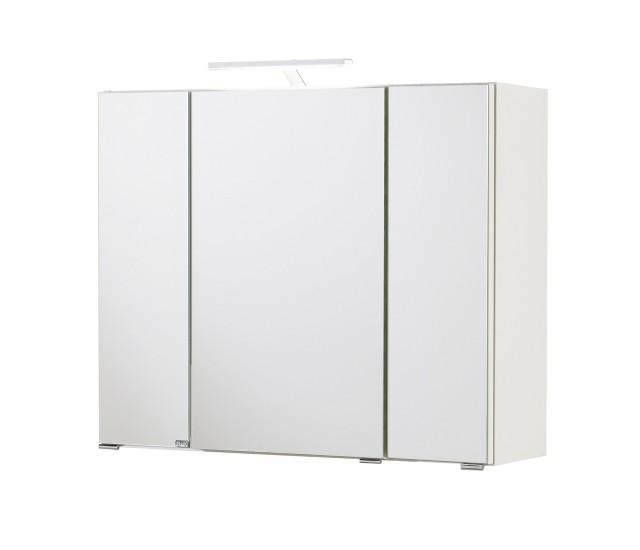 spiegelschrank beleuchtung gunstig, bad-spiegelschrank - 3-türig, mit beleuchtung - 80 cm breit - weiß, Innenarchitektur