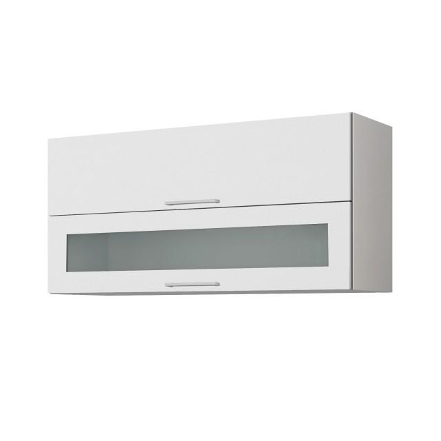 Küchen-Hängeschrank MÜNCHEN - mit Glasklappe - 110 cm breit ...