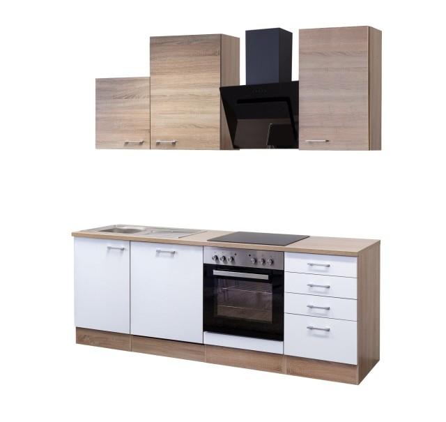 Unterschrank küche günstig  Küchenzeile ROM - Küche mit Auszugs-Unterschrank - Breite 220 cm ...