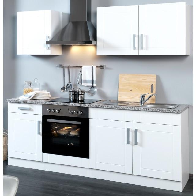 Küchenzeile Varel Küche Mit E Geräten Breite 210 Cm Hochglanz