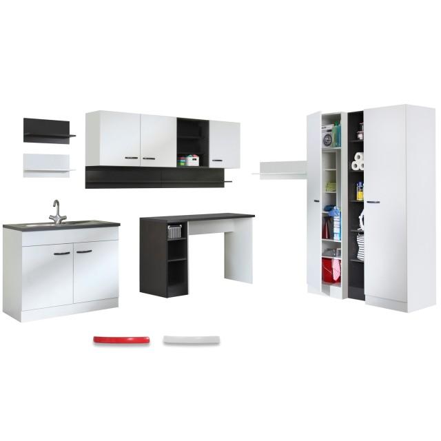 Hauswirtschaftsraum Steffen Modulares Mobelystem 15 Teilig Weiss Mobel Gunstig De