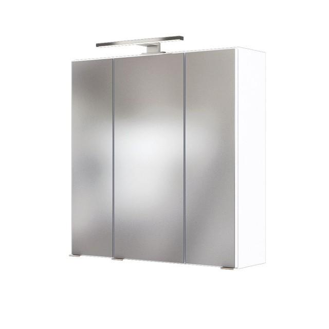 Bad Spiegelschrank Baabe 3 Türig Mit Beleuchtung 60 Cm Breit