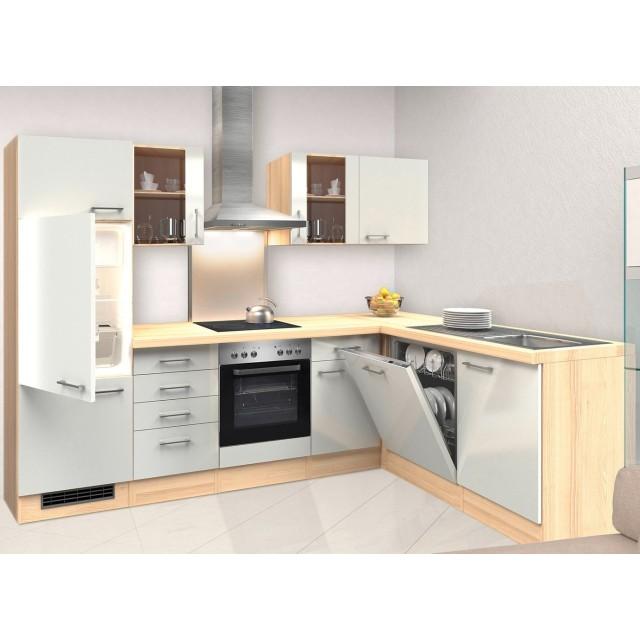 Küchen-Hochschrank FLORENZ - 1-türig - 50 cm breit - Perlmutt Weiß