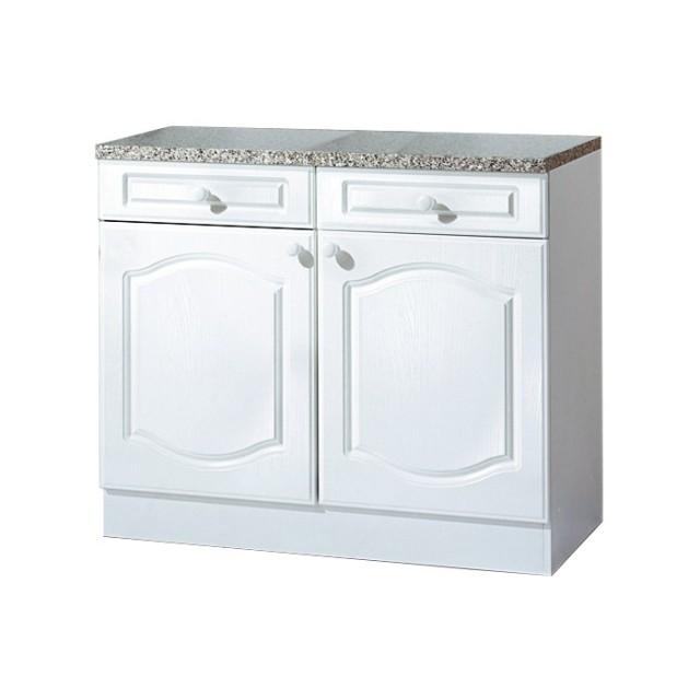 Küchen-Unterschrank LIST - 2-türig - 100 cm breit - Weiß - Möbel ...