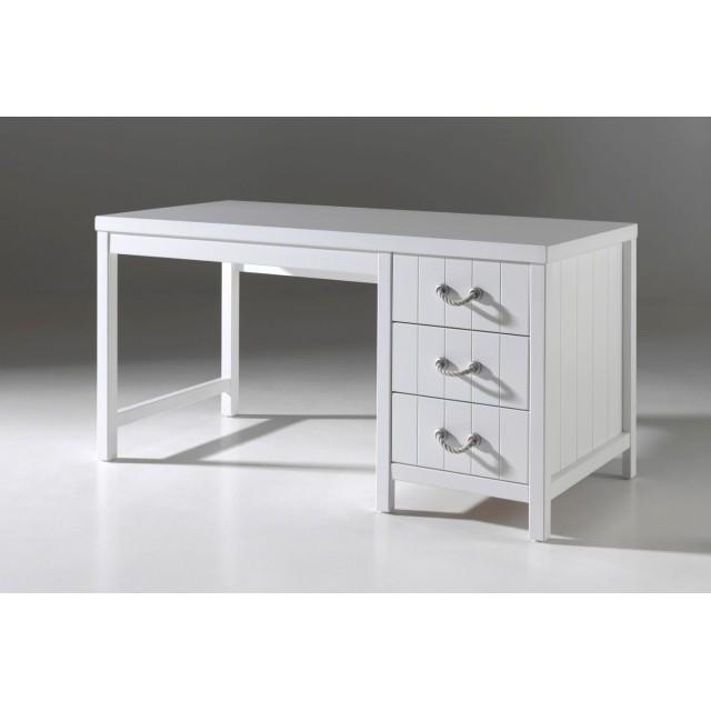 Schreibtisch LEWIS - 3 Schubladen - Weiß