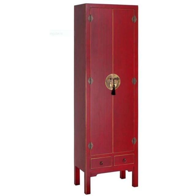 Armoire Rouge 2 Portes Chine Le Grenier De Juliette