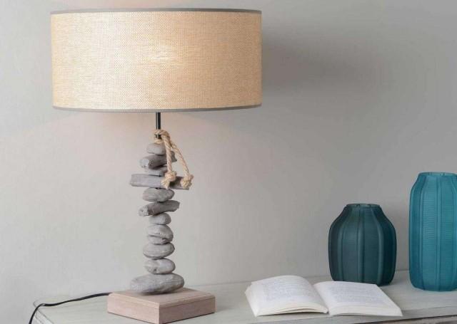 Lampe Galet Et Rafia Le Grenier De Juliette