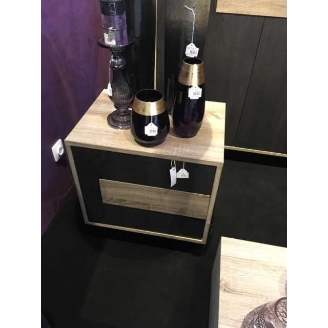 Chevet contemporain bois clair et bois noir Jolipa - Le Grenier de ...
