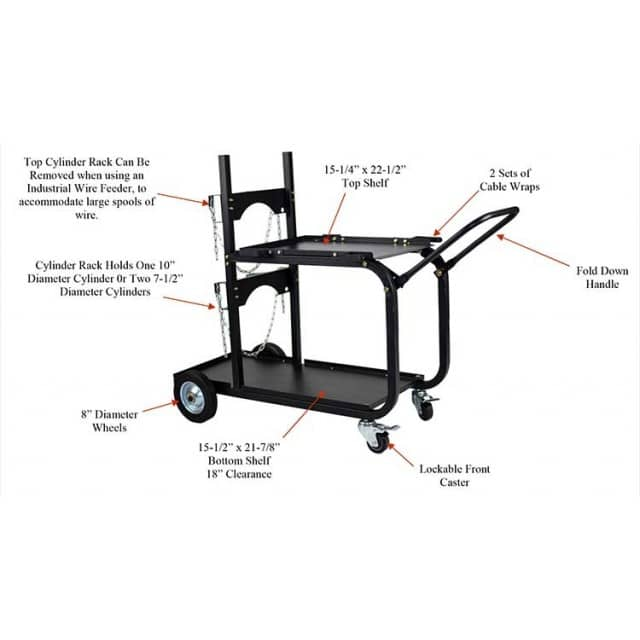 Metal Man Heavy Duty Universal Welding Cart UWC4 - netwelder.com