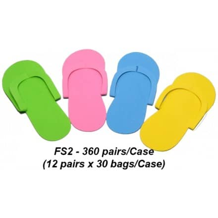47c0d0b65ef Notched Toe Foam Pedicure Slippers - Case of 360 Pairs - FS2 (Sew Type)